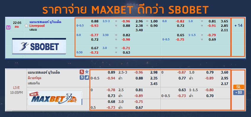 maxbet ดีกว่า sbobet